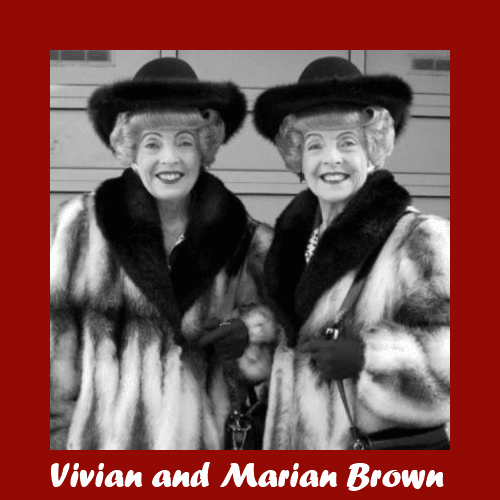 Vivian Brown and Marian Brown in fur coats 1990.