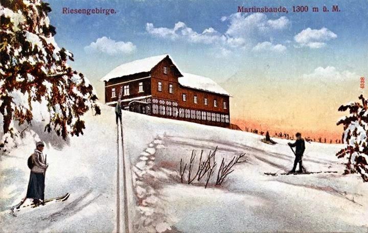 Martinova bouda na staré pohlednici