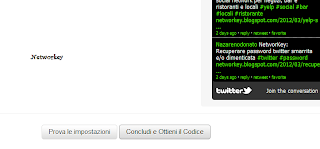 profilo twitter su blog