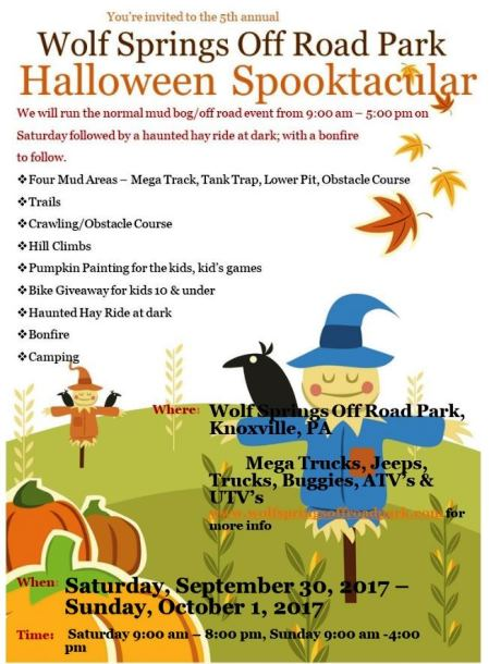 9-30 & 10-1 Halloween Spooktacular