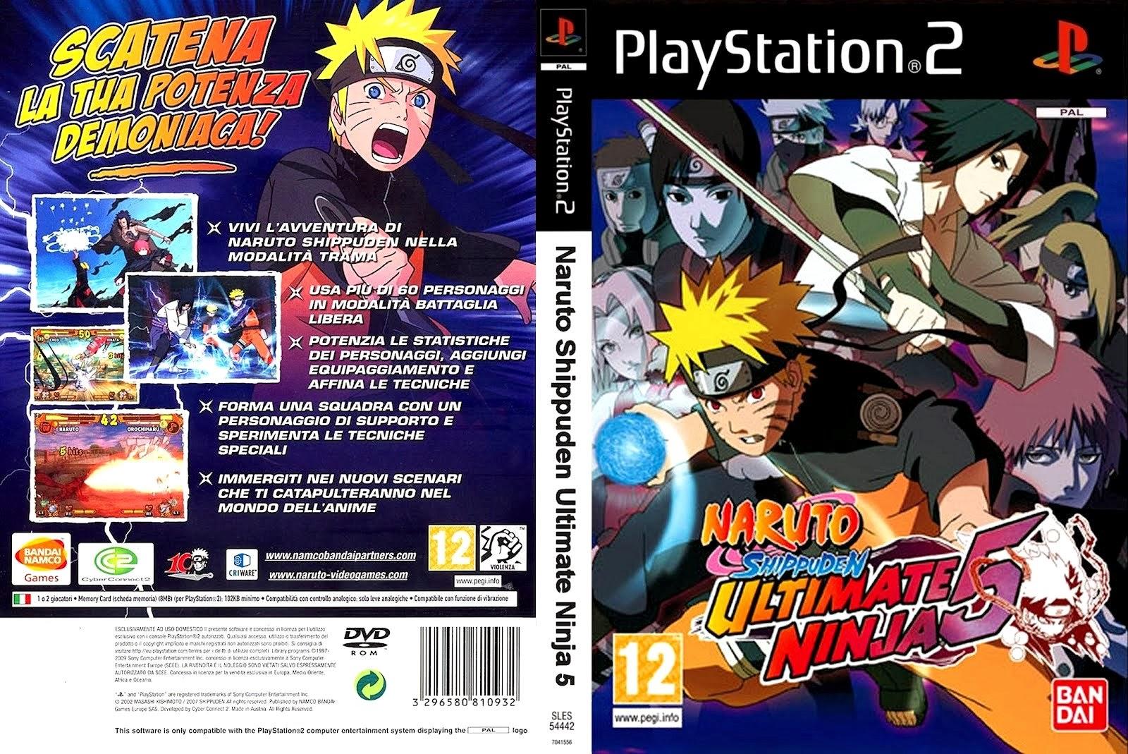 Naruto Shippuden Ultimate Ninja 5 Playstation 2 Ultra