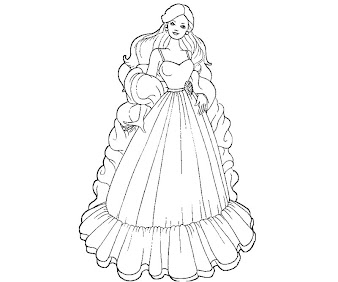 #3 Barbie Coloring Page