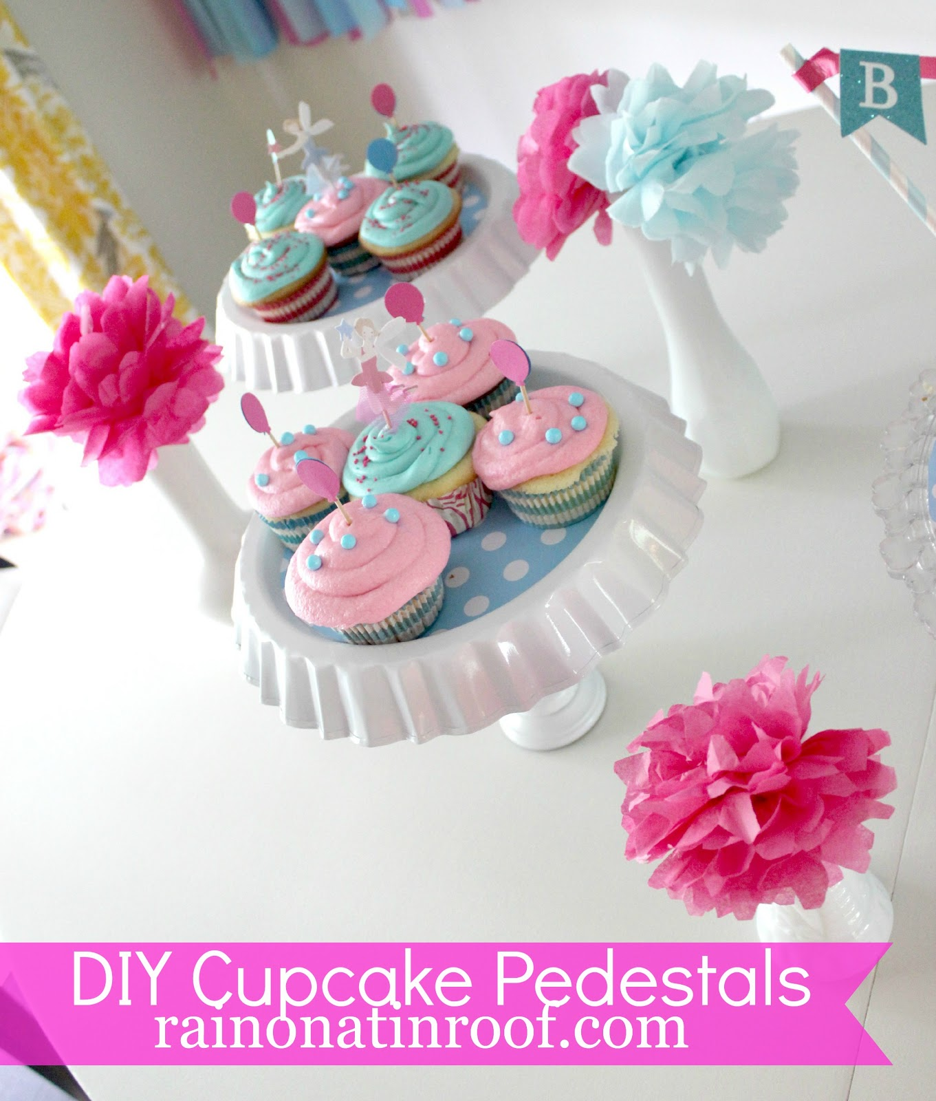 easy diy cupcake stand less than 5 each. Black Bedroom Furniture Sets. Home Design Ideas