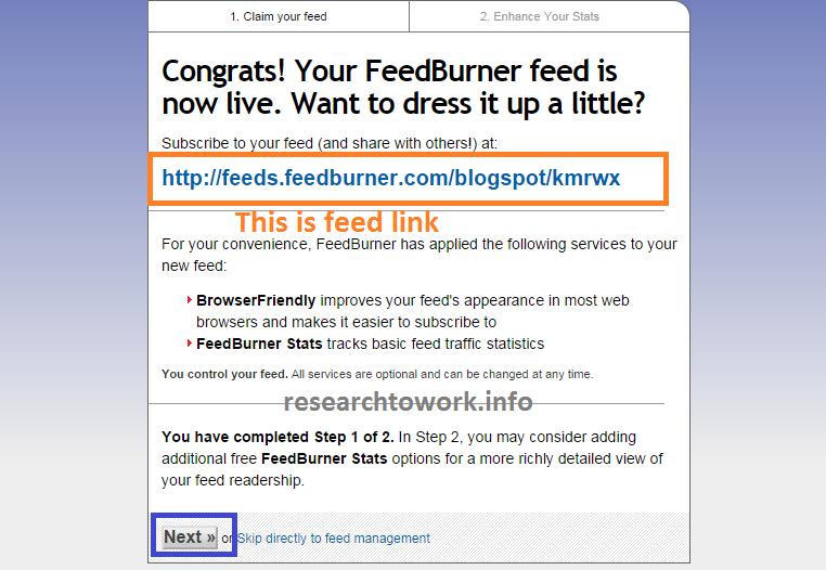 FeedBurner live now