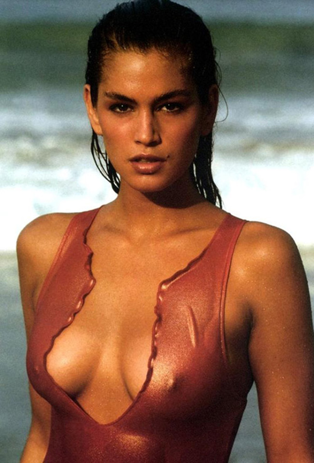 cindy crawford bare breasts