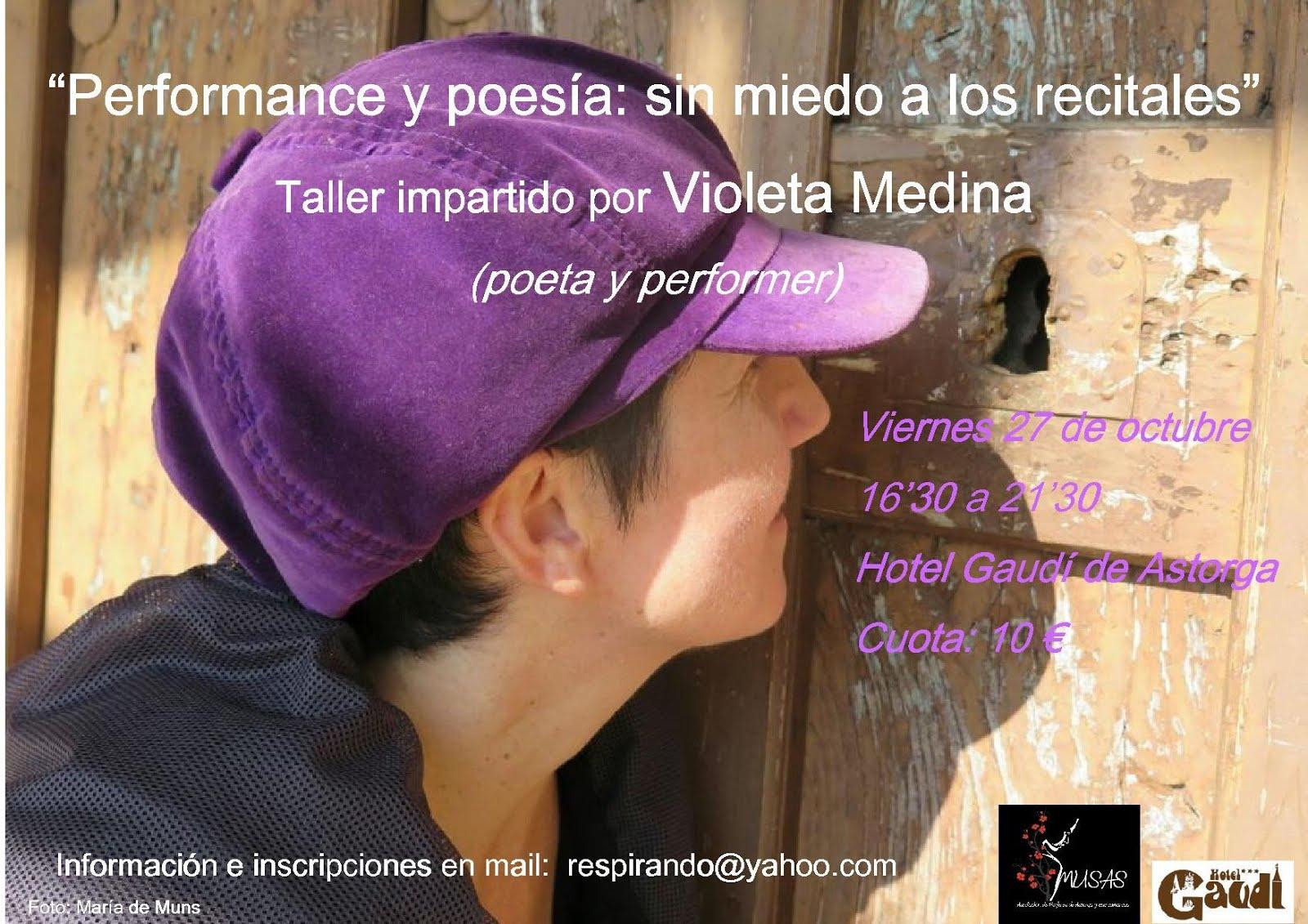 """Taller """"Performance y poesía: sin miedo a los recitales"""""""