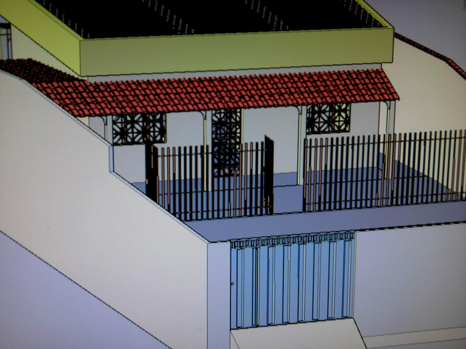 no Autocad 2010 Uma Casa 3D e agora Disponível para Download #782C24 1600x1200 Baixar Banheiro Para Autocad