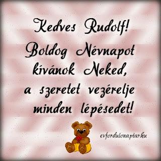 Rudolf, Kiara névnap