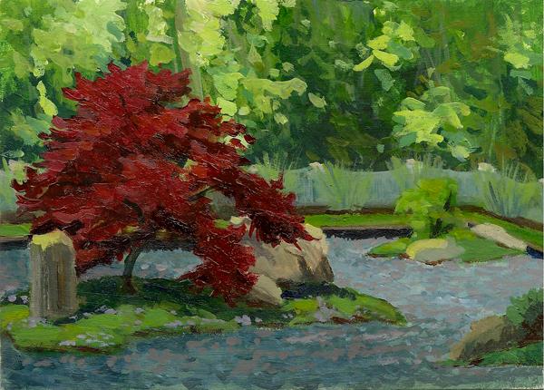Plain Japanese Zen Garden Painting Amp Stone Design A On