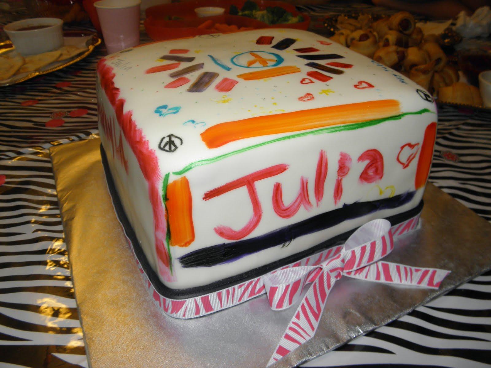 Cookie Dreams Cookie Co Rainbow Birthday Cake