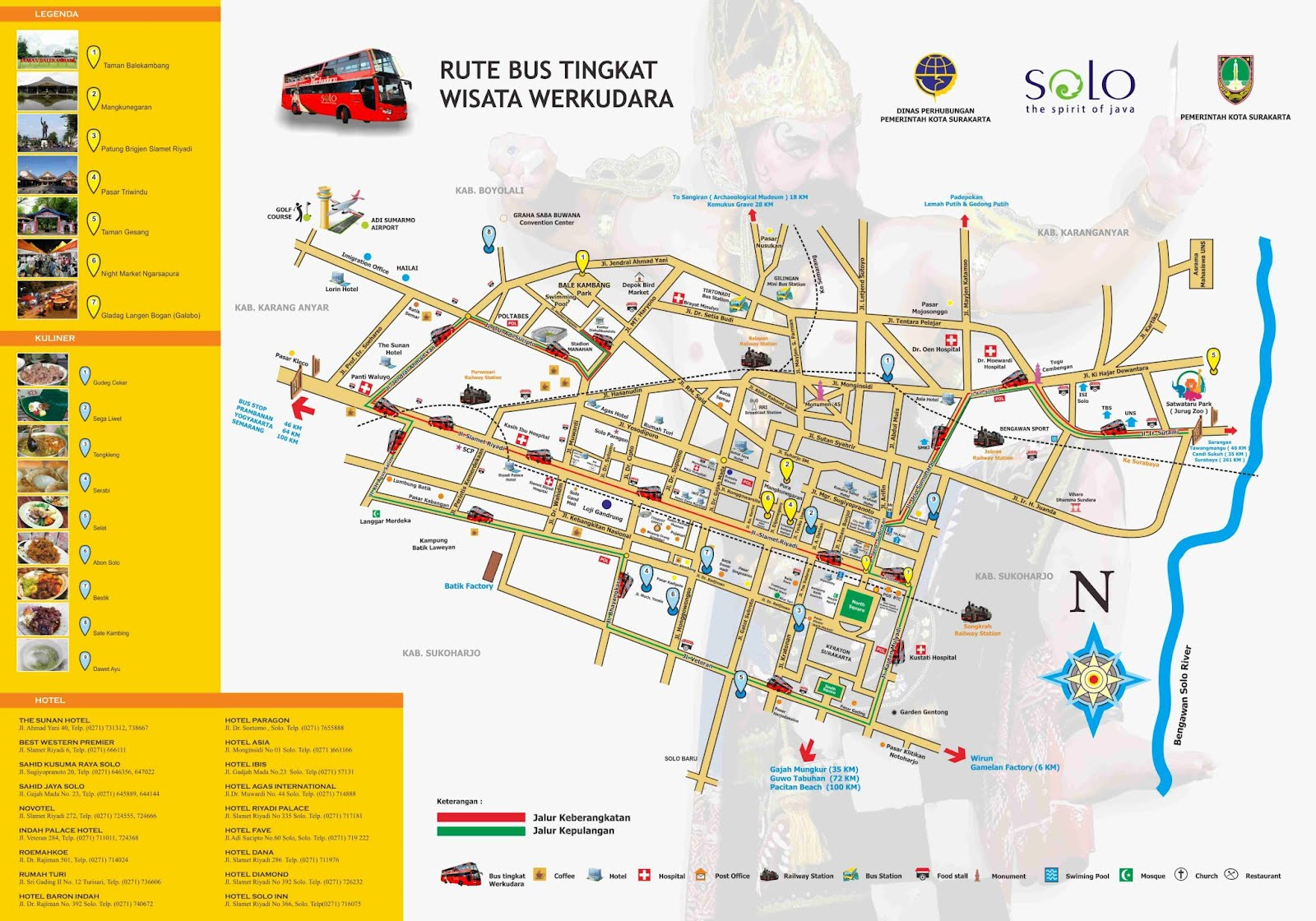 Surakarta Solo Map
