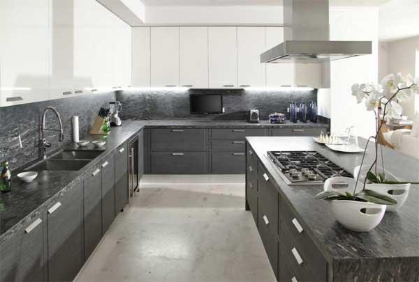 Dapur warna abu-abu