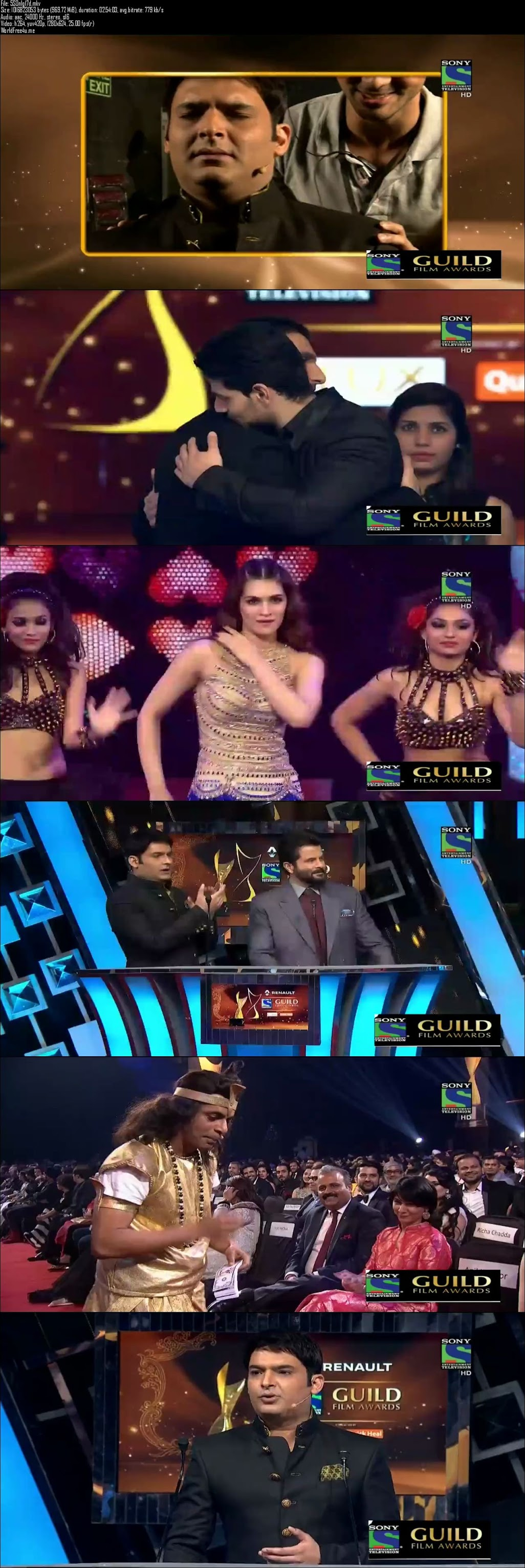 Screenshots Of Sony Guild Awards 2016 Full Show Dailymotion HDTVRip 720P Download HD