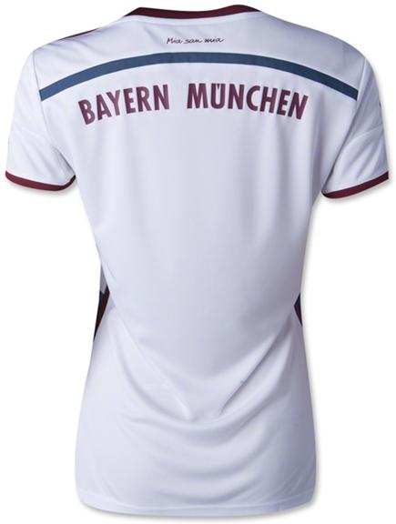 Kaos Jersey Bayern Munchen Away Cewek Musim Baru 14-15