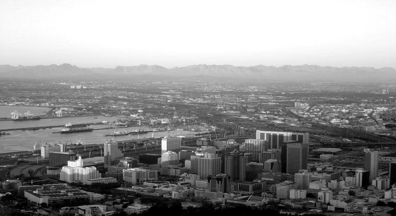 Cape Town city Black and white photography