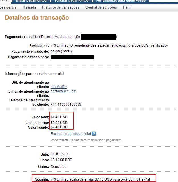 Adf.ly Prove di pagamento