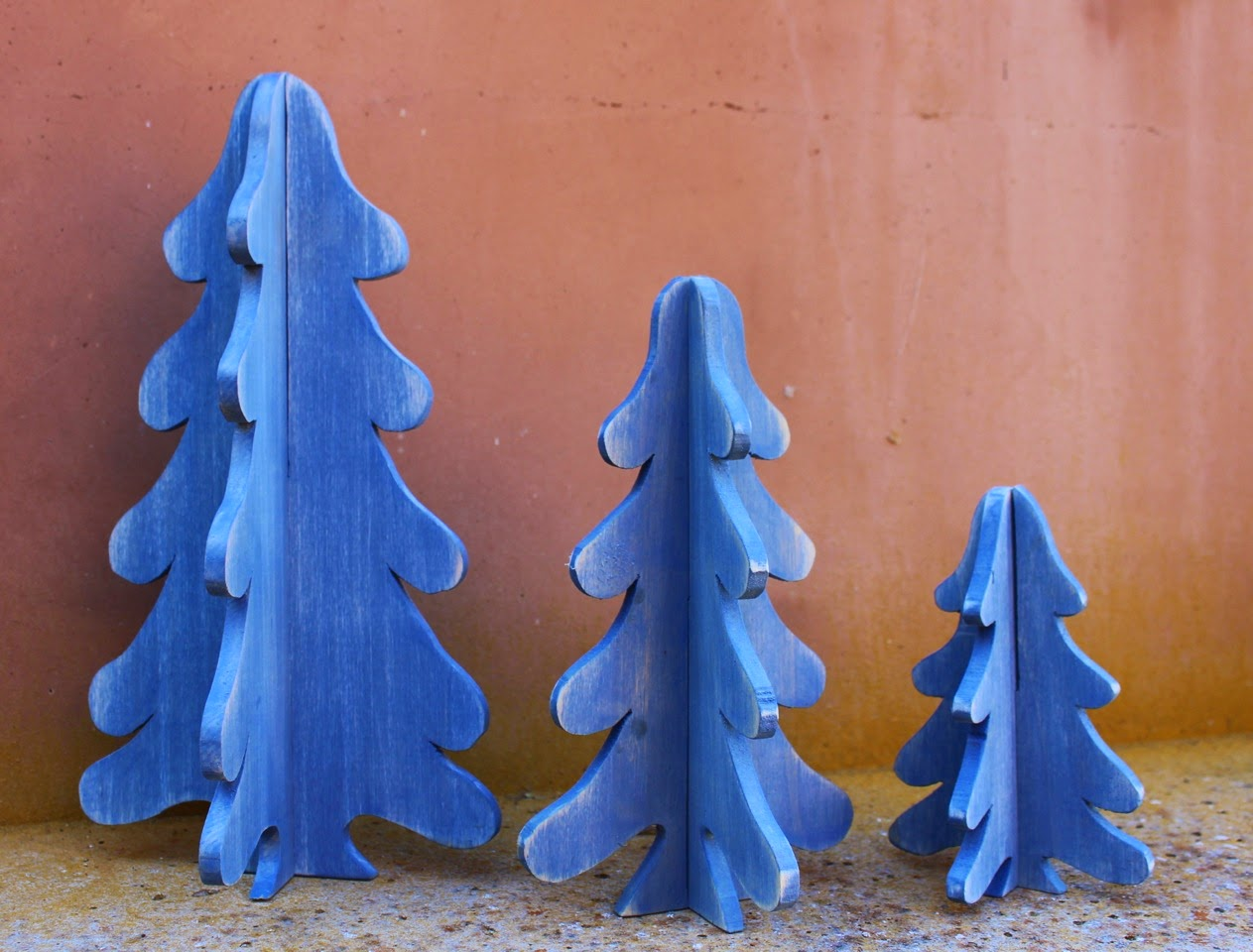 Laurie S Projects 3 D Wooden Christmas Trees