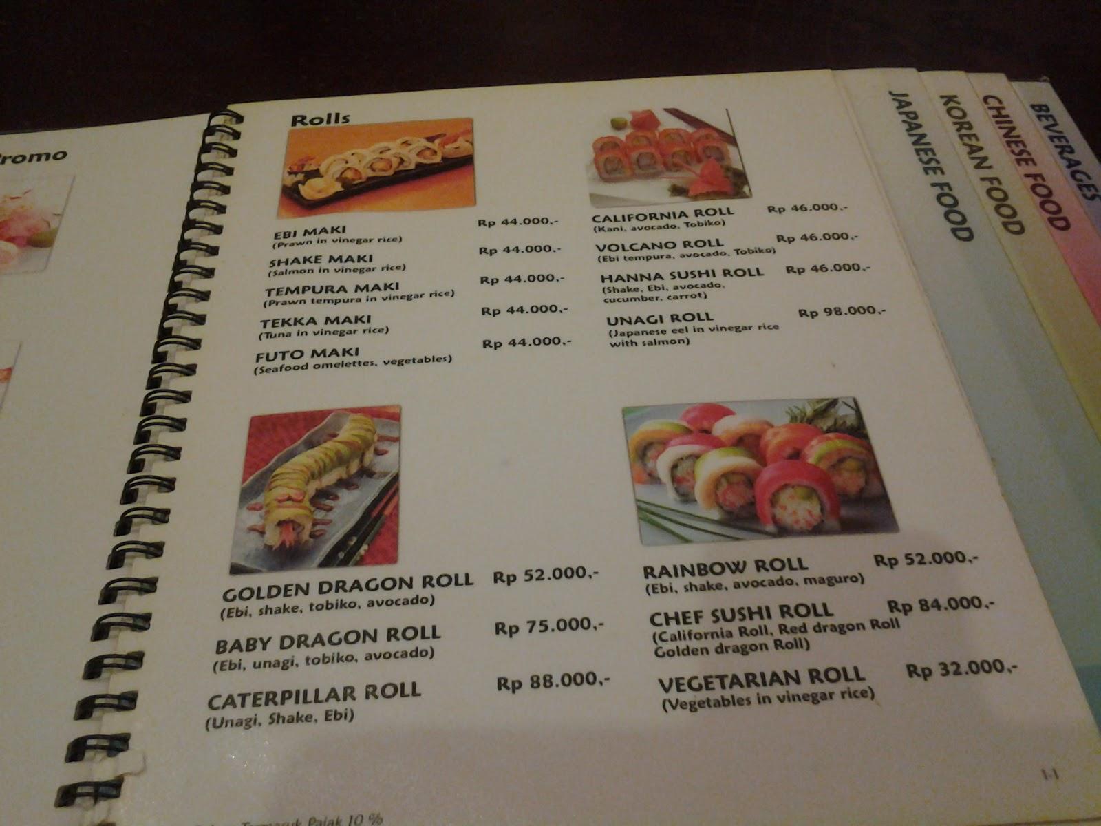 Shilla Korean Restaurant Menu