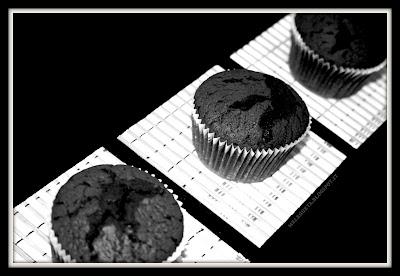 esposizione di muffin cotti