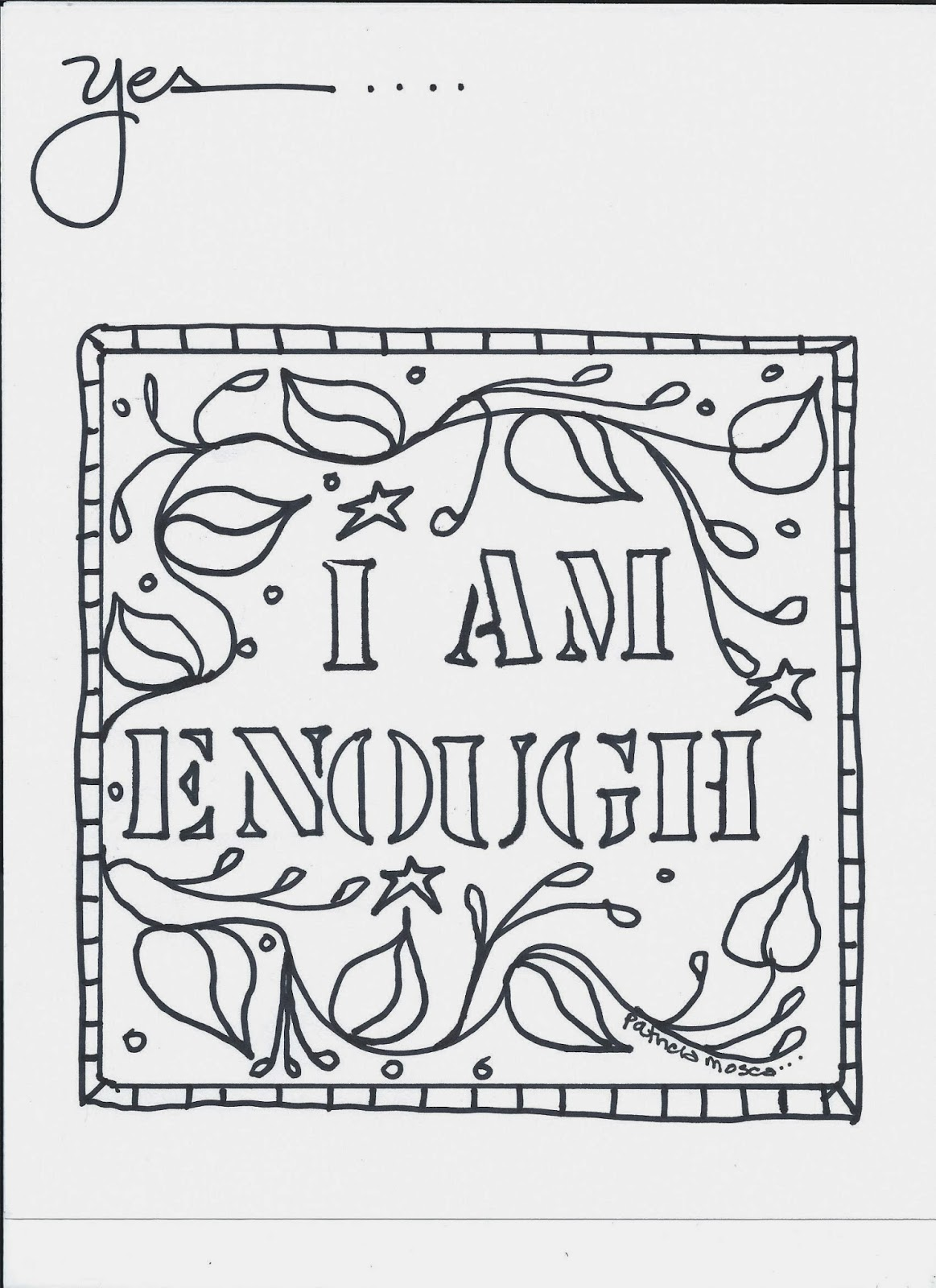 The Affirmations Coloring Book : The creative playground enough