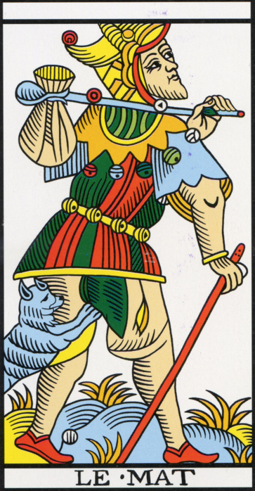 image of The Fool of the Marseilles Tarot Deck