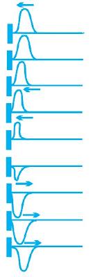 Refleksi sebuah pulsa di ujung tetap sebuah tali