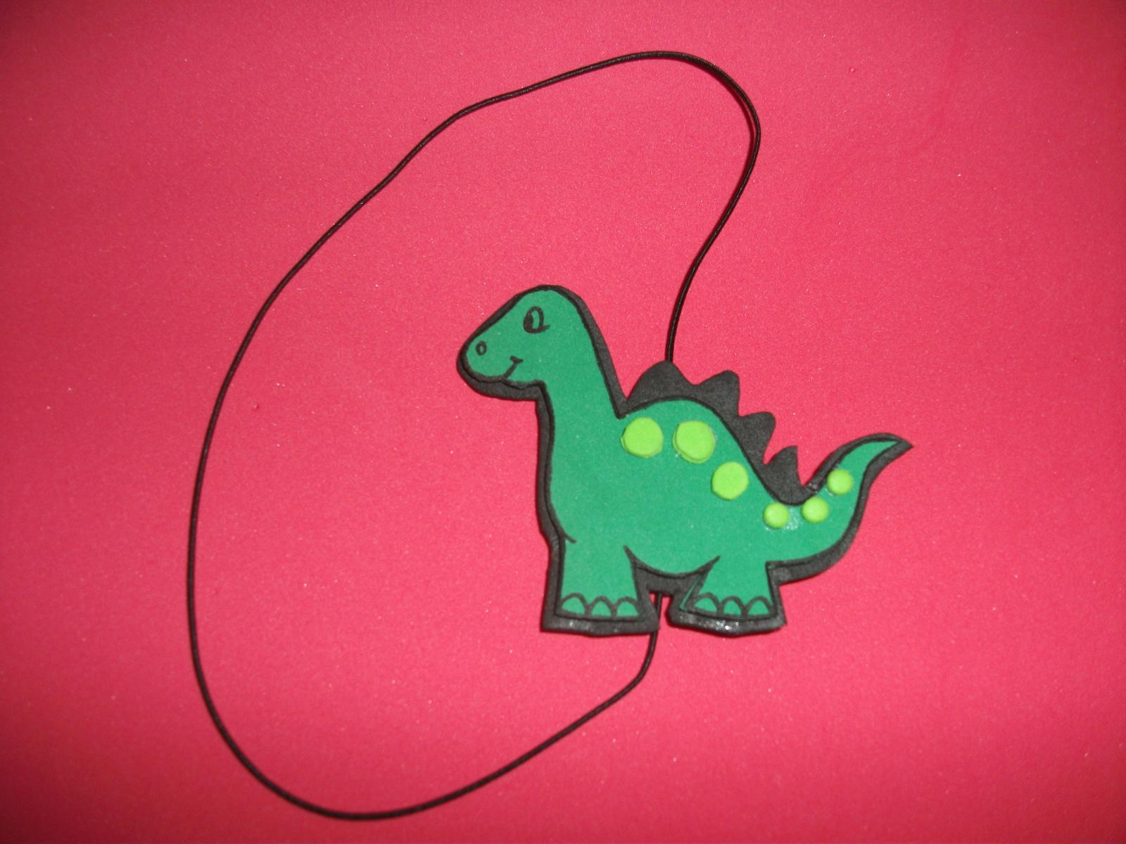 Las artesanías de Ana: Marcapáginas dinosaurio