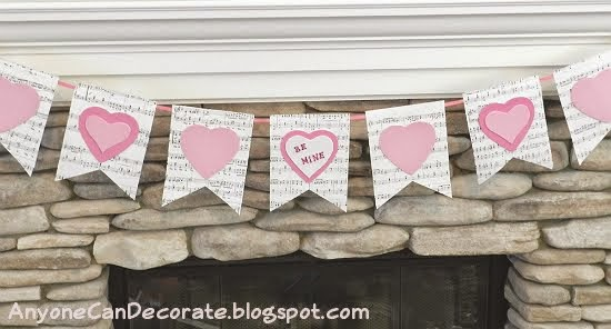 Simple DIY Valentine Bunting