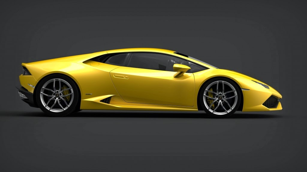 Lamborghini Huracan LP 610-4 side view,Lamborghini Huracan LP 610-4 HD Wallpaper