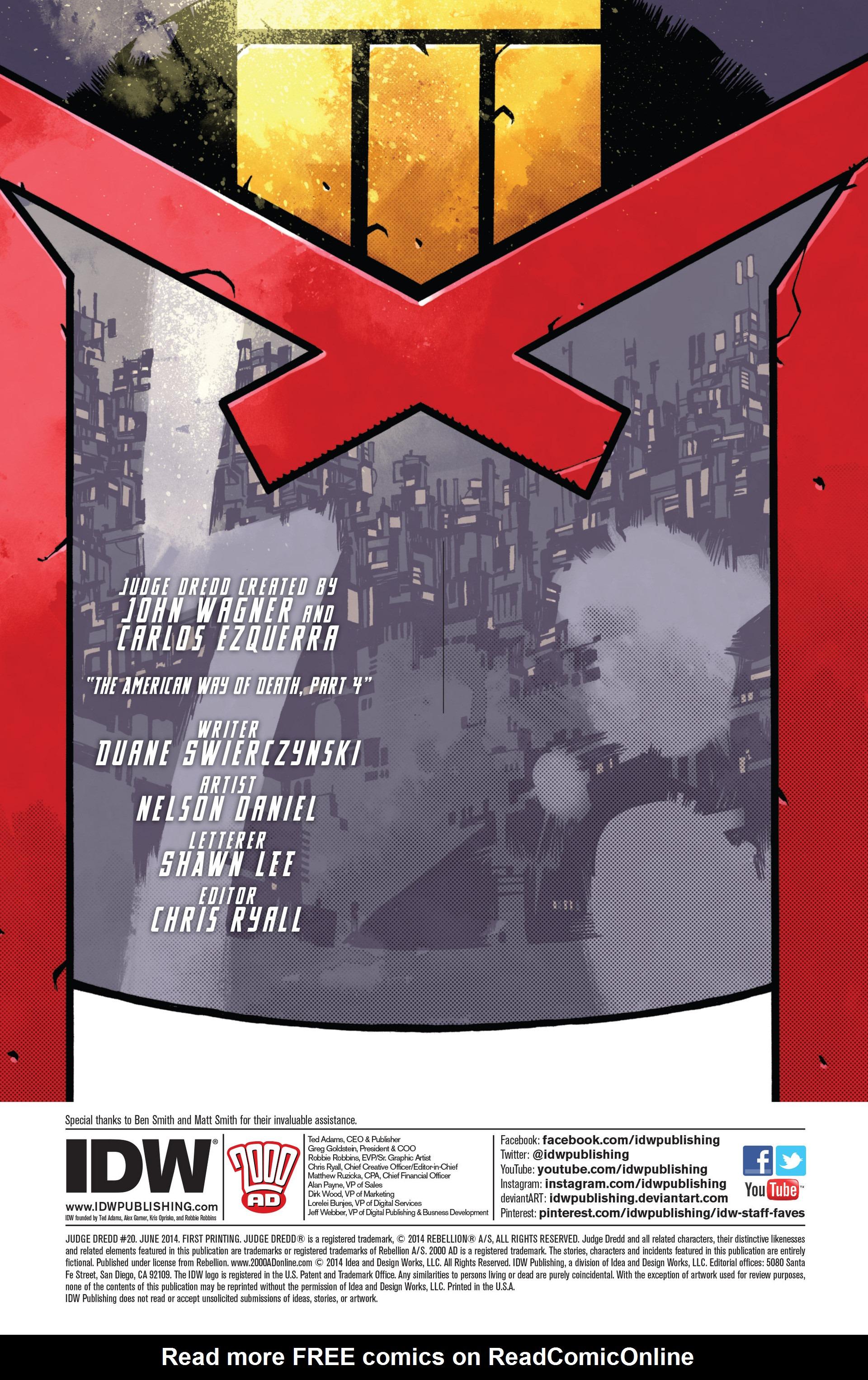 Read online Judge Dredd (2012) comic -  Issue #20 - 2