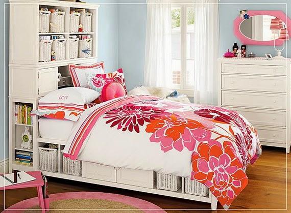 gambar desain kamar tidur cantik untuk remaja putri 2014