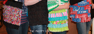 No Sew Ruffle Tote Tutorial {The Preppy Strawberry}