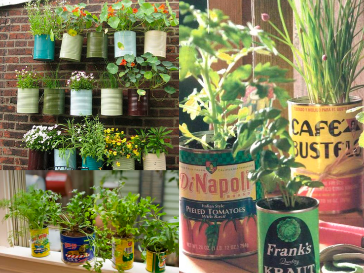jardim vertical latas:Decore Criativo: Muitas latas para uma decoração sustentável !!!