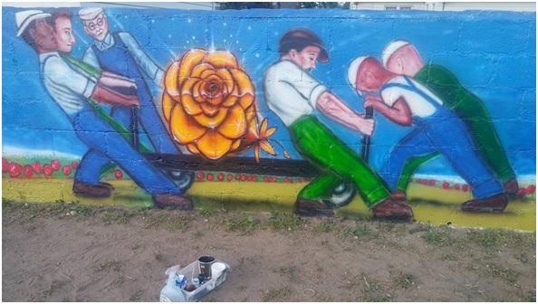 The Rose Mural