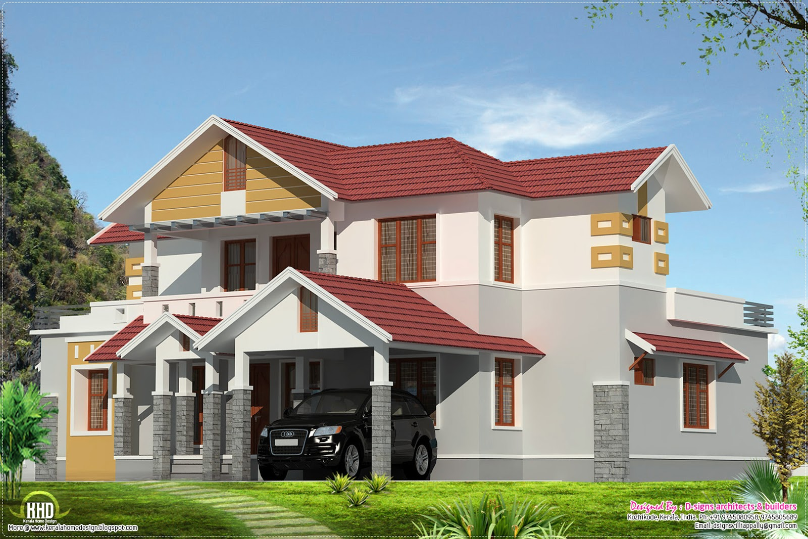 New home design kerala style home design in 2500 for 2500 sq ft house plans in kerala