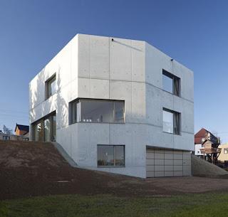 casa fachada de cemento