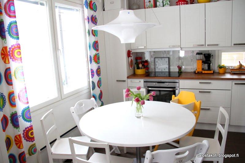 Pyöreä pöytä keittiöön – Talo kaunis rakennuksen julkisivuun