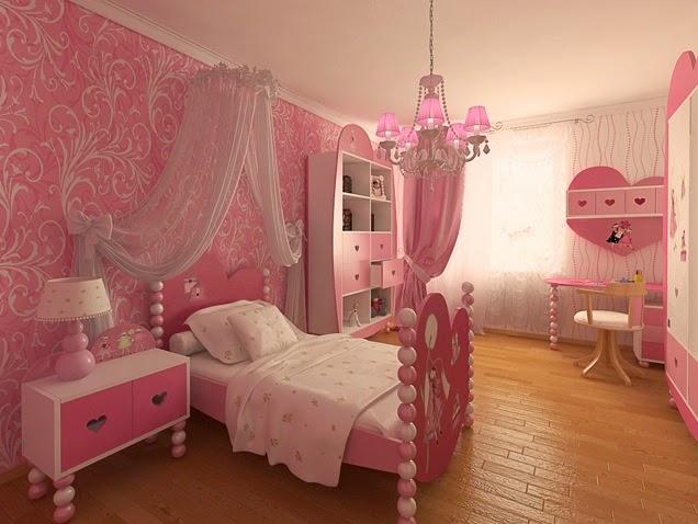 Lindas habitaciones para ni as en color rosa colores en casa - Dormitorios de princesas ...