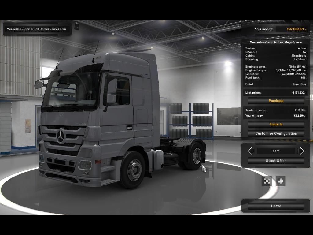 Mercedes-Benz Actros 750 hp | ETS2MP-MODS