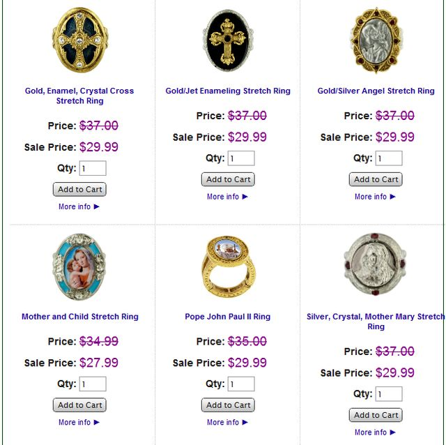 Vatican Jewelry Rings