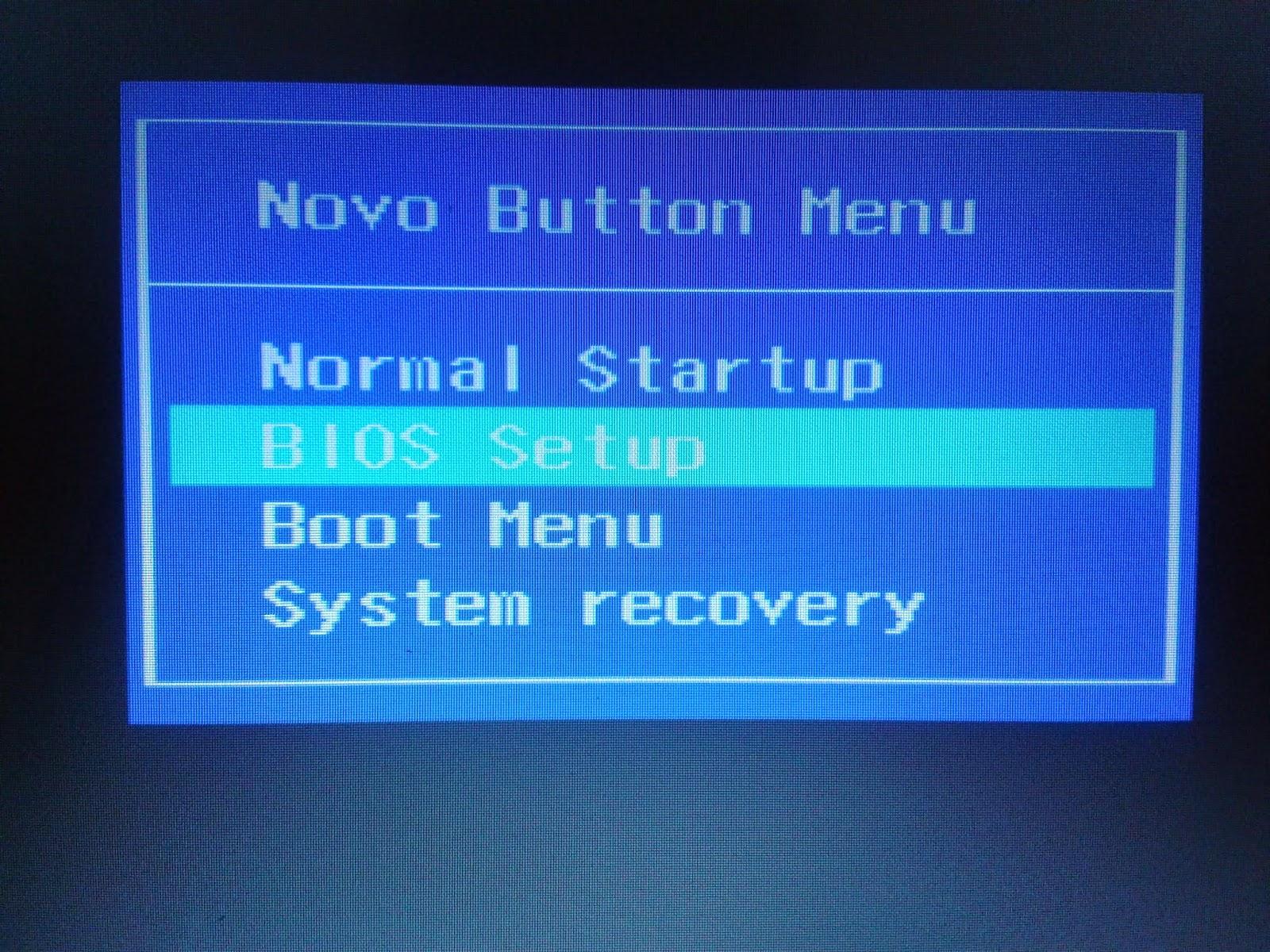 lenovo boot menu key