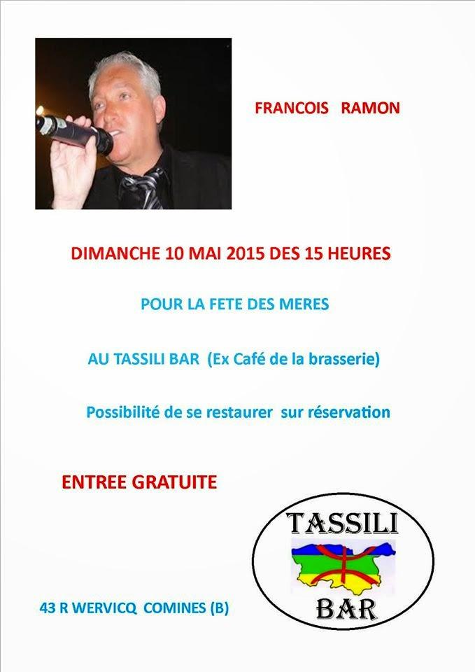 10 MAI François chante au TASSILI BAR
