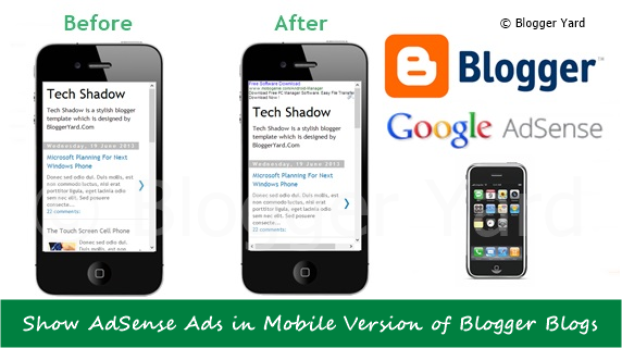 How To Show AdSense Ads in Mobile Version of Blogger Blogs