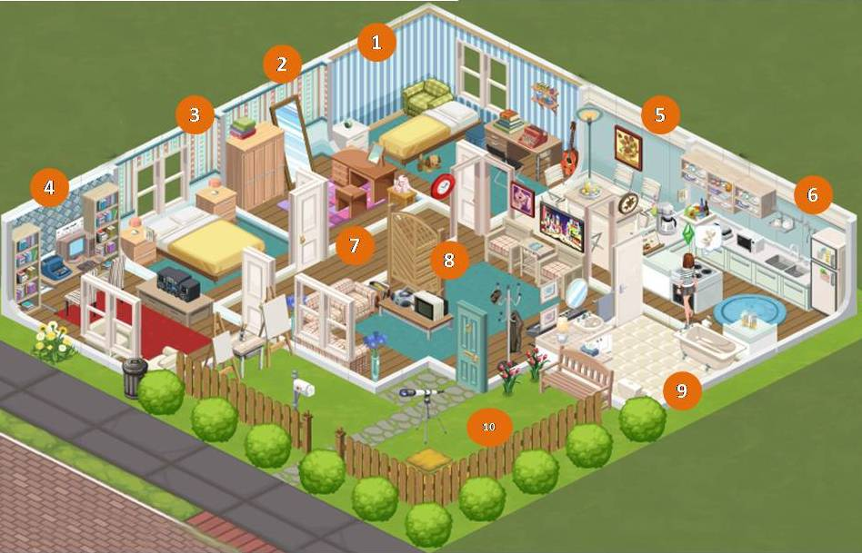 The sims social house layouts