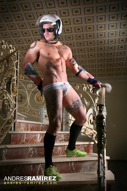 Sexy model Esteban Martinez in Todd Sanfield underwear