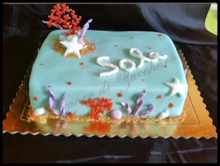 torta a tema mare per sole