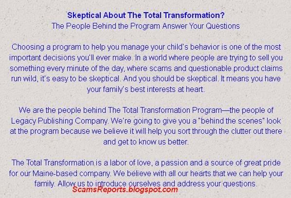 Total Transformation Scam