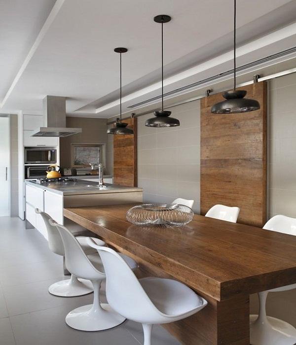 Ilha Quente Cozinha - Decore Sua Mente, Seu Corpo E Seu Espaço Cozinhas Gourmet Com Mesa Acoplada