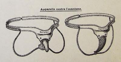 ceinture de chasteté, onanisme, début du XXe siècle, dessin