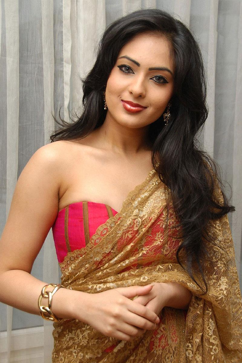 Nikesha Patel Looking Hot In Saree
